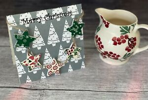 'Merry Christmas' Card & Mini Bunting Decoupaged in Emma's Christmas Patchwork