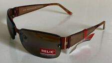 NEW! RELIC MIKKEL BROWN WRAP RECTANGULAR SUNNIES SUNGLASSES SHADES $30 SALE