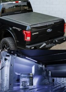 """Access Lorado Bed Cover w/ TruXedo 18"""" B-Light For 04-14 Ford F-150 5' 7"""" Bed"""