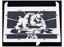 "cache / Grille de radiateur inox poli Suzuki 750 GSR ""Bulldog"" + grillage alu"