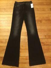 "True Religion  ""Dana"" Black Flare Jeans, Size 25, New!"