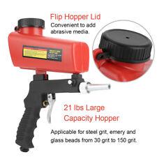Durable Handheld ABS Air Compressor Speed Gun Sand Blaster TPU hopper Metal UK