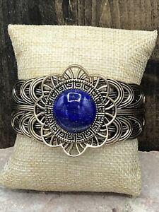 Barse Santorini Cuff Bracelet- Lapis & Bronze- New With Tags