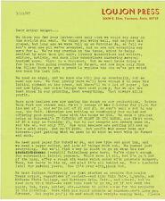 Jon Edgar Webb founder Loujon Press letter on struggle of his press to survive