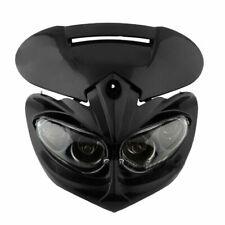 LED MASK Head Light Lamp Fairing Motorcycle Street Fighter Black Headlight