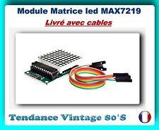 *** MATRICE LED 32X32 - MAX7219 AVEC CABLES DE LIAISONS / ARDUINO ***