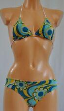 Charro Bikini per Giovane Ragazza Turchese a Disegni circa 12 Anni / Nuovo