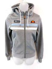 ELLESSE Womens Hoodie Jacket 4 Grey Polyester