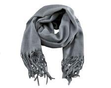 Accessoire mode : écharpe étole pashmina 70% et soie 30% couleur gris argent