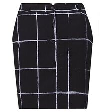 J. Lindeberg Womens Allie Micro Stretch Golf Skirt Black Windowpane - Pick Size