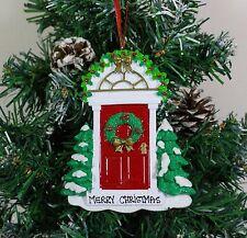 Ornamento del árbol de Navidad Personalizado Puerta Roja Decoración Adornos De Navidad