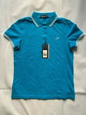 FRED PERRY G9762 AQUA MARINE TWIN TIPPED WOMEN POLO