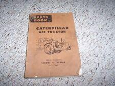 Caterpillar Cat 631 Tractor Parts Catalog Manual Manual 13G2176- 13G3488