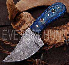 EVEREST HUNT CUSTOM HANDMADE DAMASCUS STEEL HUNTING CAMP SKINNER KNIFE B4-1647