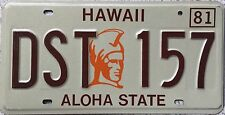 GENUINE American Hawaii King Kamehameha USA License Licence Number Plate DST 157