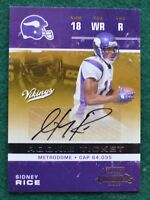 Sidney Rice AUTO rookie card - 2007 Contenders Minnesota Vikings autograph RC