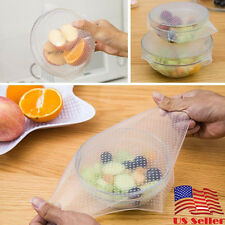 Silicone Wraps Bowl Cover And Food Stretch Lid Easy To Keeps Food Fresh BPA Free