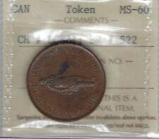 LOWER CANADA Quebec Bank 1837 Halfpenny Breton 522 LC-8B1 ICCS MS-60 Inv 3645