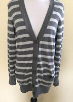 Tommy Hilfiger  Dark Gray/light Gray Buttondown V-neck Cardigan Sweater Petite S