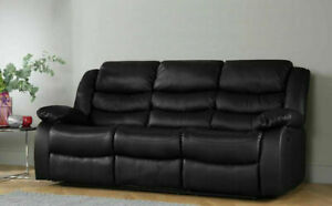 3+2+1 Recliner Sofa Leather Bonded Reclining Lazyboy Sofa Suite pc Sofas