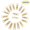 Useful 100pcs Mini Wood Clip Clothespins Laundry Photo Paper Peg Art Craft US