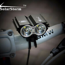 SolarStorm 8000LM CREE XM-L T6 LED Bicycle Light Bike Lamp with Battery+Charger
