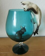 VINTAGE RETRO KITSCH 1960s CAT & MOUSE ORNAMENT SET BESWICK - NO BRANDY GLASS