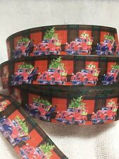Father Christmas In Car 25mm  Grosgrain Ribbon 3 Meter Length Hairbows Craft