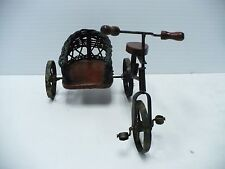 Vintage Bicycle With Wicker Sidecar Statue