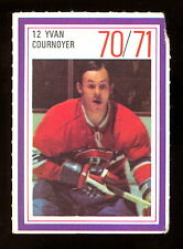 1970-71 ESSO POWER PLAYERS NHL #12 YVAN COURNOYER EX COND CANADIENS UNUSED STAMP