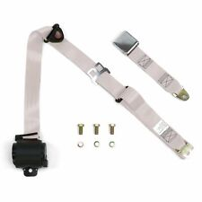3Pt Off White Retractable Seat Belt Airplane Buckle - Each 428 wrecker scta