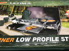 3 Burner Low Profile Collapsible Camping Stove w/ Broiler Pan Century Outdoors