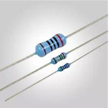 200pcs 1W 1R~1M 1% Metal film resistor 10R 100R 220R 1K 1K5 2.2K 4.7K 0.25W