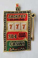 "#2694 6"" Casino Slot Machine,Jackpot Embroidery Iron On Applique Patch"