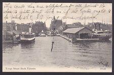 Circa 1906 Vintage Postcard Yonge Street Dock, TORONTO, Ontario, Canada