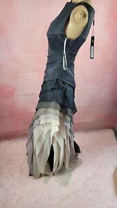 GORGEOUS NWT  Halston Heritage Women's Ruffle Maxi Gown Sleeveless