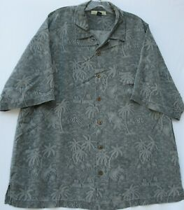 Tommy Bahama men's short sleeve textured silk Hawaiian/Aloha shirt size XL