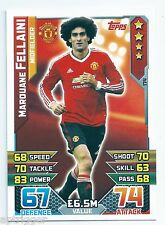 2015 / 2016 EPL Match Attax Base Card (174) Marouane FELLAINI Manchester United