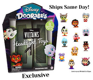 NEW Disney Doorables Villains Collection Peek Pack 12 Mini Figures Multi In Hand