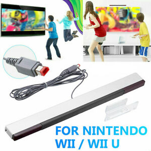 Wired Infrared IR Ray Motion Sensor Bar Stand for Nintendo Wii Wii U Console