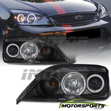 [Dual CCFL Halo] 2005 2006 2007 Ford Focus Black Projector Headlights Pair
