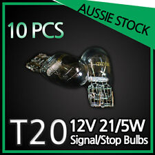 T20 12V 21/5W Push type Stop Bulbs Globes TAIL LIGHT WEDGE CLEAR BULK PACK 10PCS