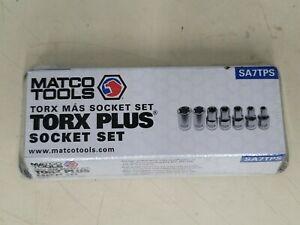 NEW SEALED MATCO TOOLS # SA7TPS 7 PIECE TORX PLUS SOCKET SET - FREE SHIP