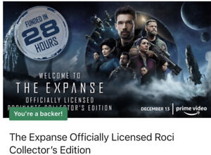The Expanse Patch Set of 3 Kickstarter Exclusive Rare  FREE US Shipping