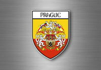 Autocollant sticker voiture moto blason ville drapeau ecusson prague tcheque