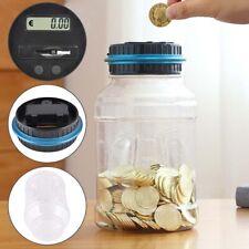 Electronic LCD Coin Money Counting Jar Box Saving Digital Piggy Bank Gift UK