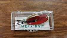 Antique Collectable Vintage New in Box JAKE'S BAIT Fishing Lure - Red