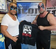 The Powers of Pain Warlord & Barbarian Signed Shirt PSA/DNA COA WWE L Autograph