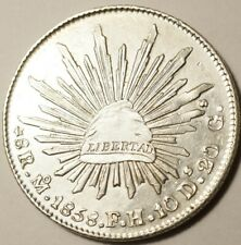 MEXIQUE : SUPERBE 8 REALES ARGENT 1858 Mo-FH MEXICO