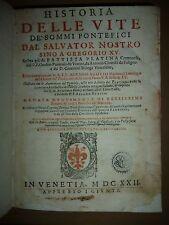 PLATINA DELLE VITE DEI SOMMI PONTEFICI   Panvinio Cronologia ecclesiastica 1622